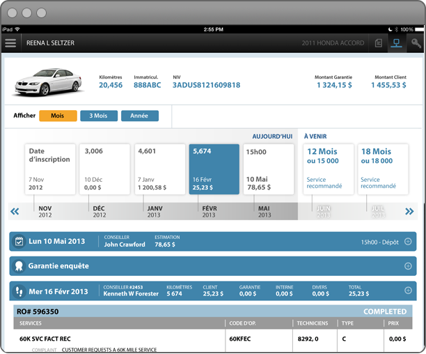 Dealer Menus screenshot